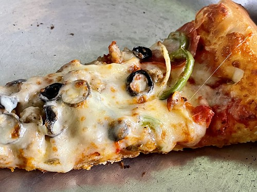 a slice of pizza