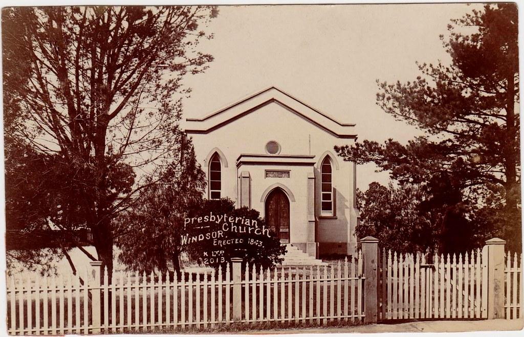 Presbyterian. Church, Windsor, NSW c1843
