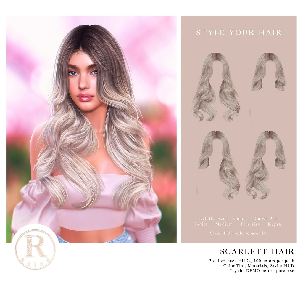 RAMA.SALON – Scarlett Hair @Equal10