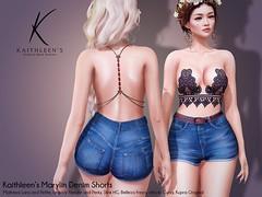 Kaithleen's Marylin Denim Shorts Poster web