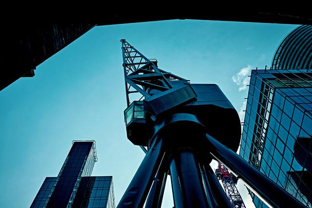 Urban cranes.