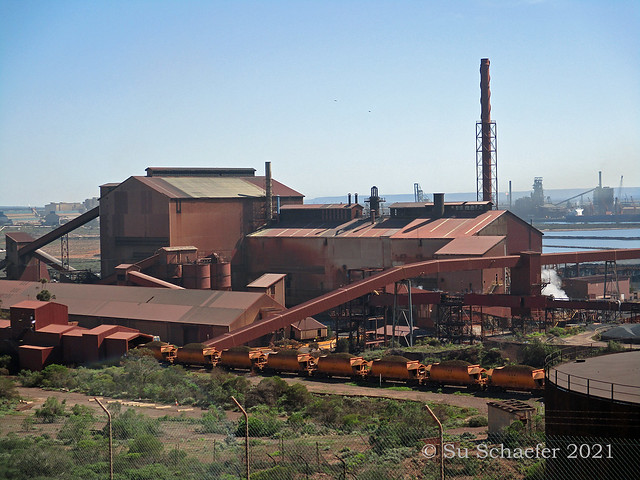 Whyalla in the morning (3 of 5) steel works + air pollution