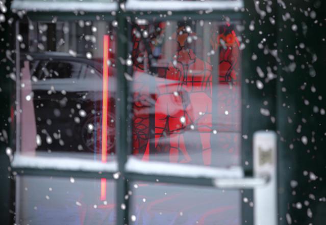 Snowing in a warm neighborhood