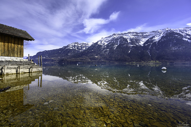 Lake Brienz with Reflection - Ringgenberg - Bern - Switzerland