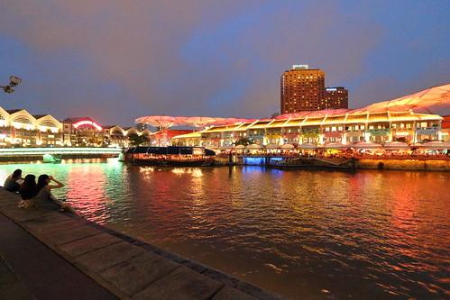 sunset quay singapore river water singaporeriver clarkequay city