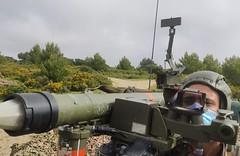 La #BrigadaGuzmanelBueno el Mando de Artillería Antiaérea y el @EjercitoAire se integran