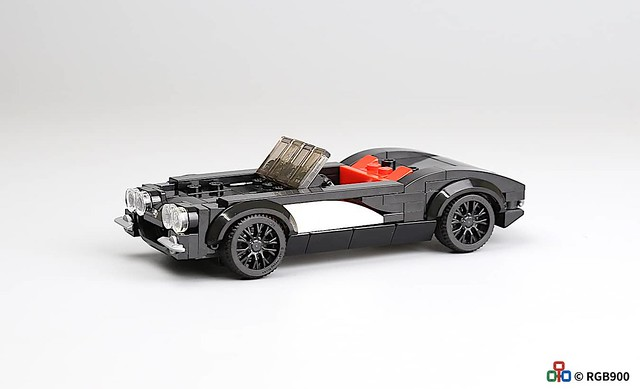 6 wide  Brick moc chevrolet corvette c1