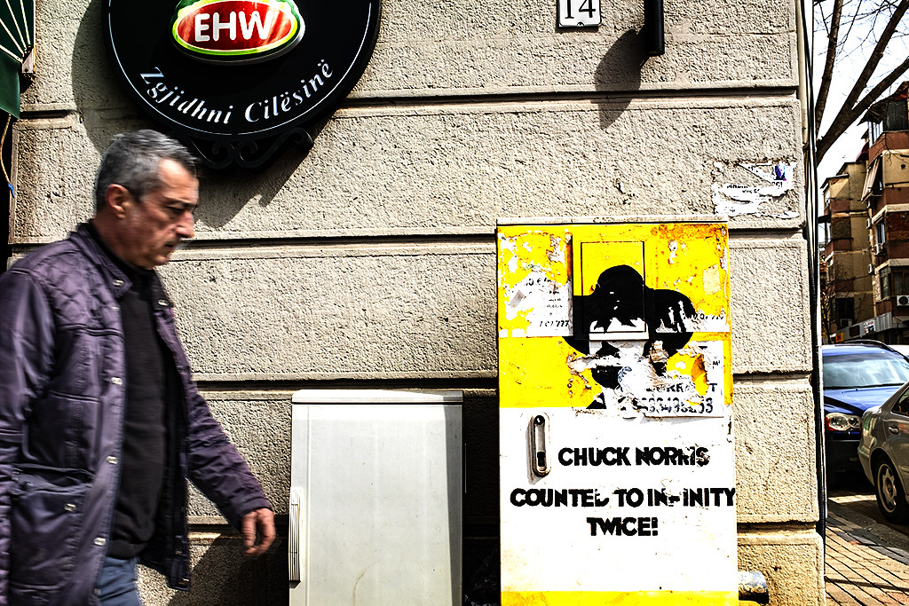 CHUCK NORRIS COUNTED TO INFINITY TWICE--Tirana