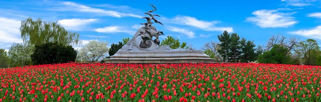 The Navy and Merchant Marine memorial.
