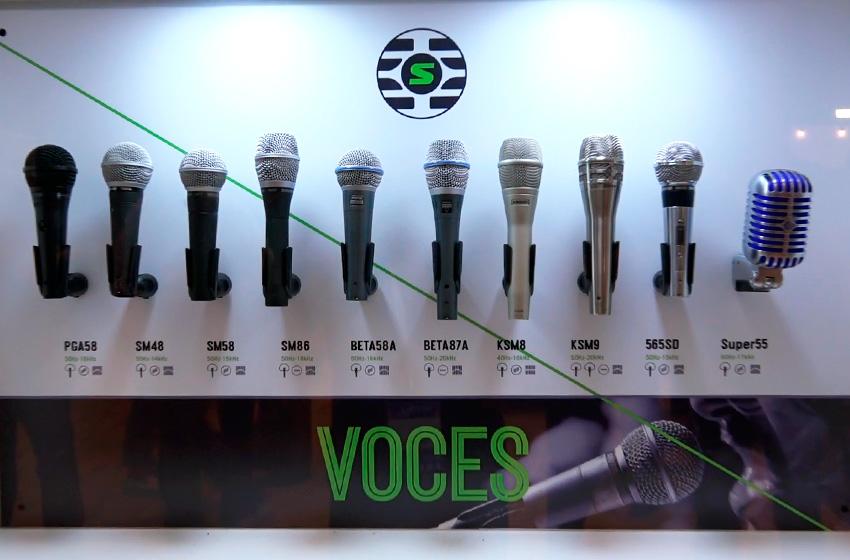 Shure Microfonos para voces