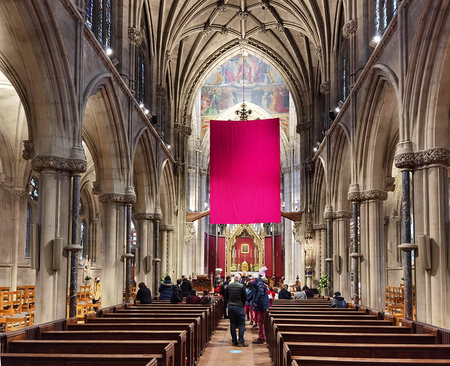 The Lenten Veil in place