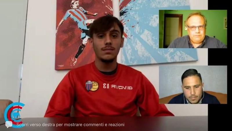 Salvo Le Mura durante l'intervista in diretta a cura di calciocatania.com