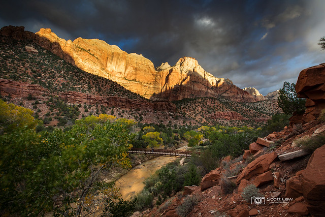 Sunset Drama in Zions NP