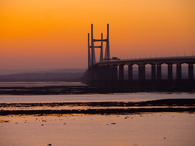 A Different Angle of The Second Severn Bridge