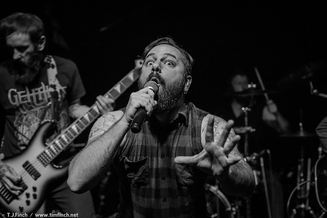 Anthony Knight performing with Gethika, Wraithfest 2017. Photo credit: Tim Finch Photography