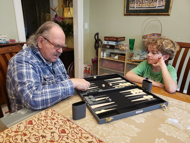 Playing Backgammon With Grandpa