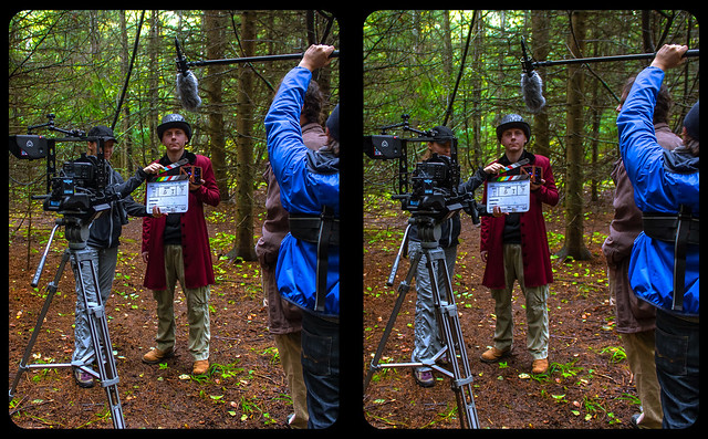 Spacehock - Behind the scenes 3-D / CrossView / Stereoscopy