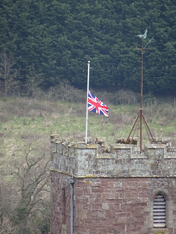Flag at Half Mast, and Bell Tollings for Prince Philip