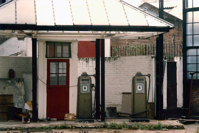 Garage, Burton Place area, Bloomsbury, Camden, 1986,