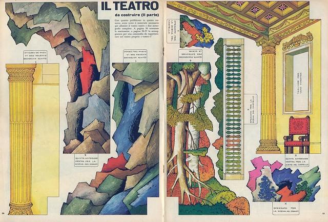 paper toys - il teatro - magazine - corriere dei piccoli - italy