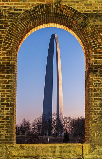 Gateway Arch through Eads Bridge Window Arch