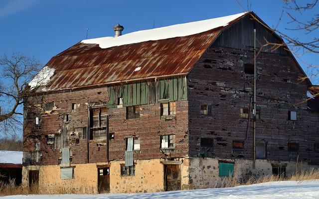 Derelict chicken barn, Caledon East, Ontario.
