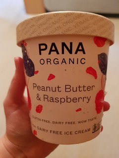Pana Peanut Butter and Raspberry Ice Cream