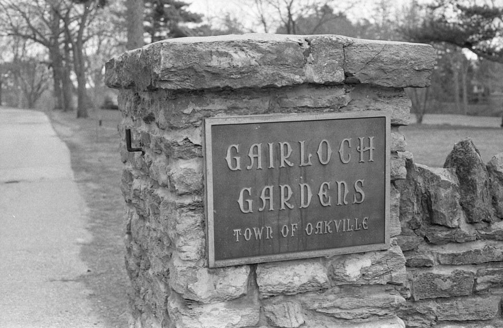 Gairloch Gardens Plaque on the Gate Post