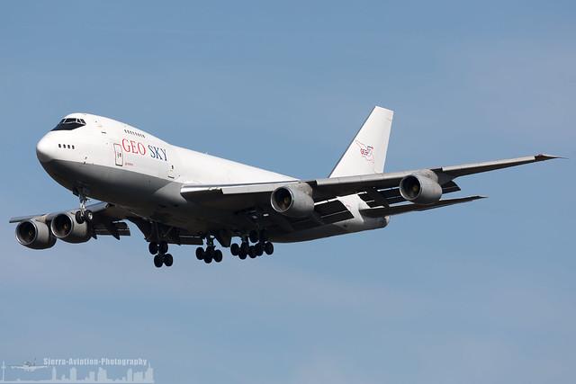 4L-GEO Geo-Sky Boeing 747-236B(SF) (FRA - EDDF - Frankfurt)