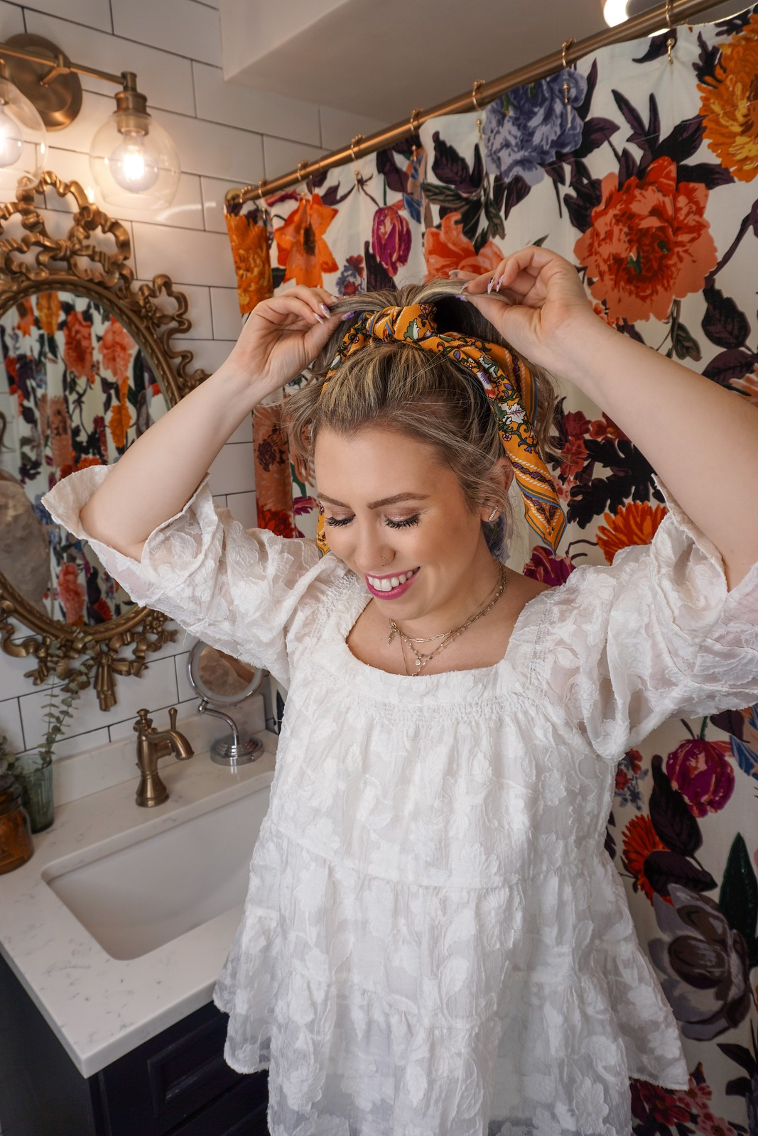 High Pony | 6 Ways to Wear a Scarf in Your Hair | How to Wear a Scarf in Your Hair | Easy Hair Tutorial | Summer Hair Tutorials | Hair Tutorial Videos