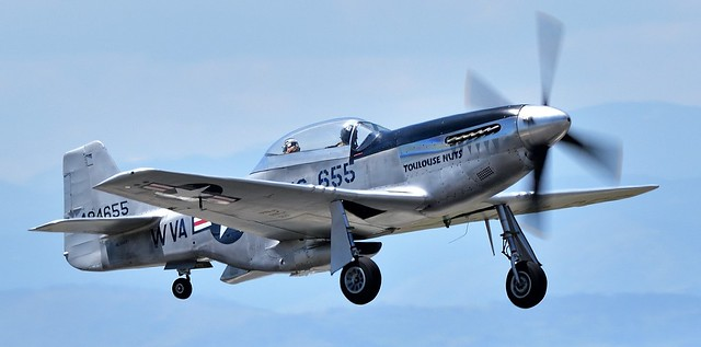 North American P-51D Mustang 0-484655 Toulouse Nuts N551CF Military Serial 44-84655 USAAF and USAF
