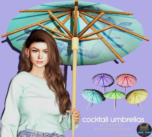 Junk Food - Cocktail Umbrellas Ad
