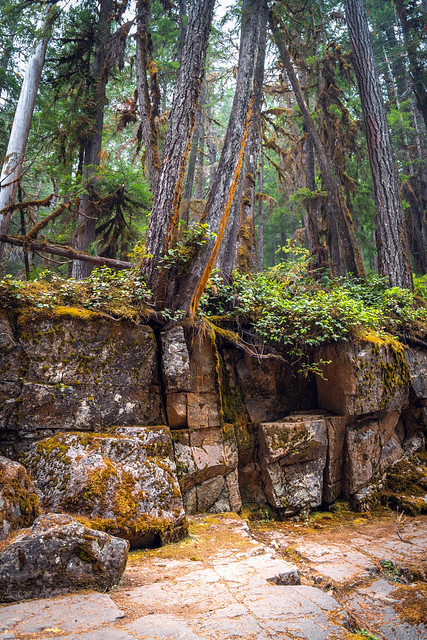 Silver Falls, Washington - Forest Fire Smoke Haze - Mt. Rainier National Park - September 2020