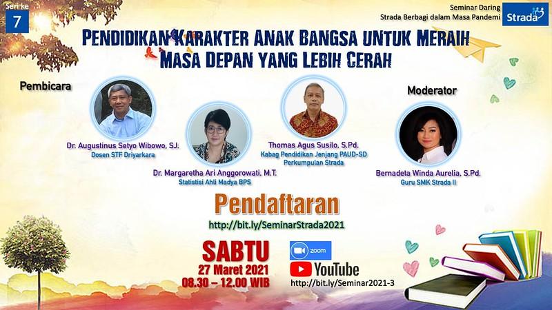 Seminar 7 : Pendidikan Karakter Anak Bangsa untuk Meraih Masa Depan yang Lebih Cerah