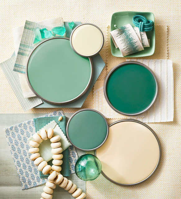Cream & Green Paint Colors