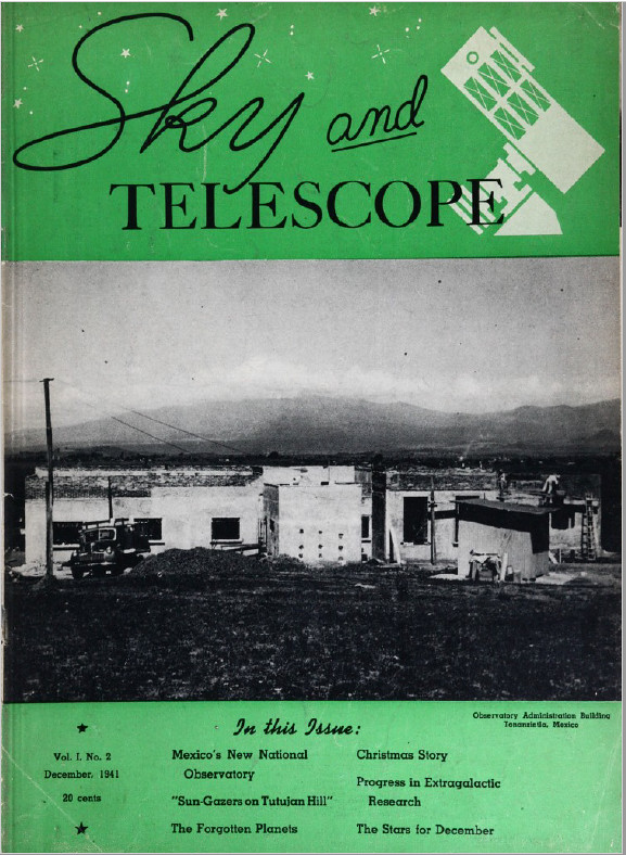 Sky and Telescope 1941-02 Cover