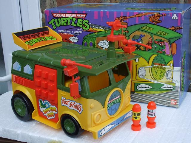 Vintage 1980's Boxed Teenage Mutant Hero Turtles Party Wagon / Mutant Attack Van