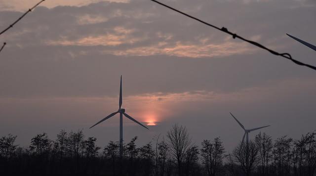 Windenergie ist letztlich Sonnenenergie; Oldersbek, Nordfriesland (5)
