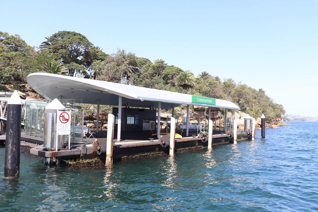 Sydney Ferries Cremorne Point Wharf viewed from 'Alexander'