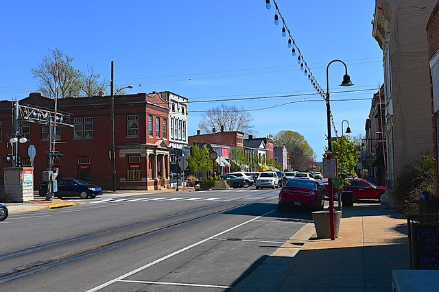 West Main Street with CSX Tracks