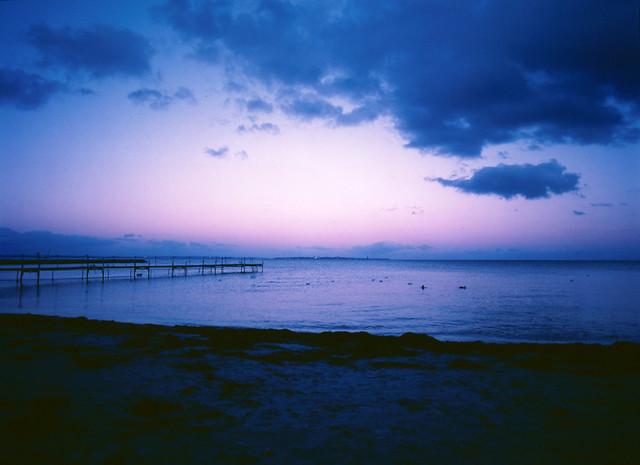 Nivå Strand efter solnedgang