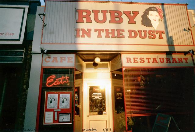 Ruby in the Dust, Restaurant, Camden High St, Camden, 1981,