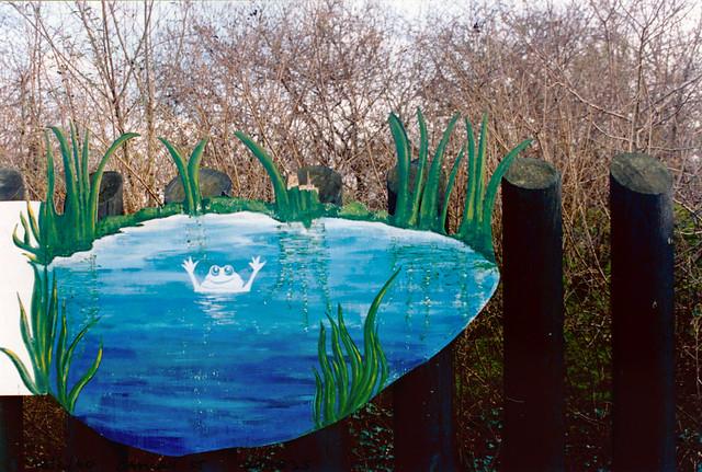 Frog, Camley St Natural Park, Camley St, Kings Cross, Camden, 1990,