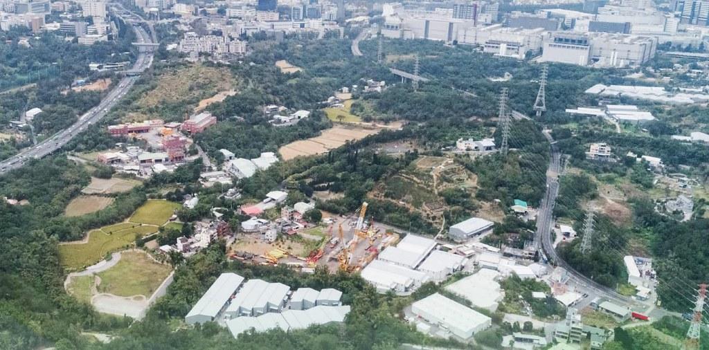 竹科寶山2期擴建地區空照圖。圖片來源:環評書件