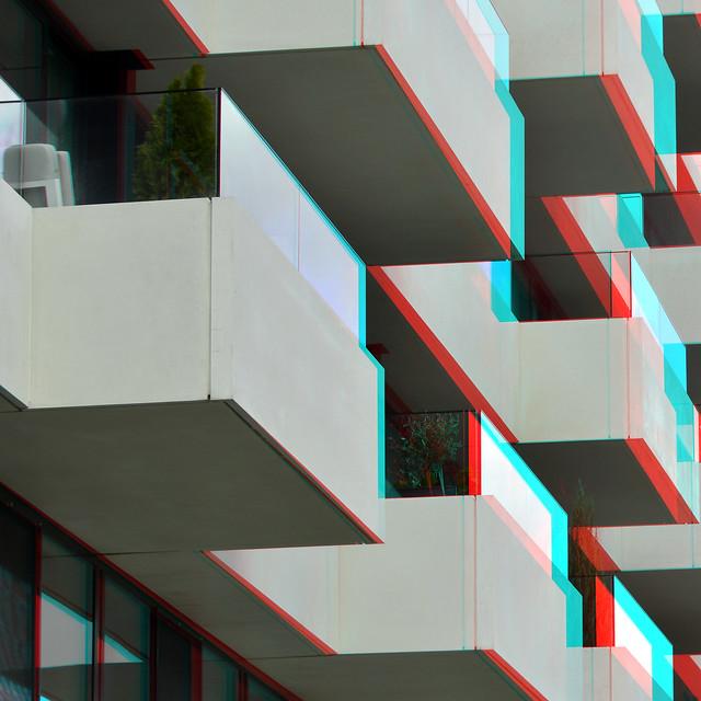 balcons The Muse Wijnhaven Rotterdam 3D