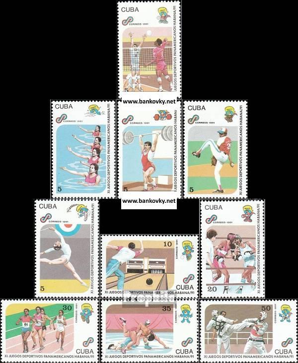 Známky Kuba 1991 Šport nerazítkovaná séria MNH
