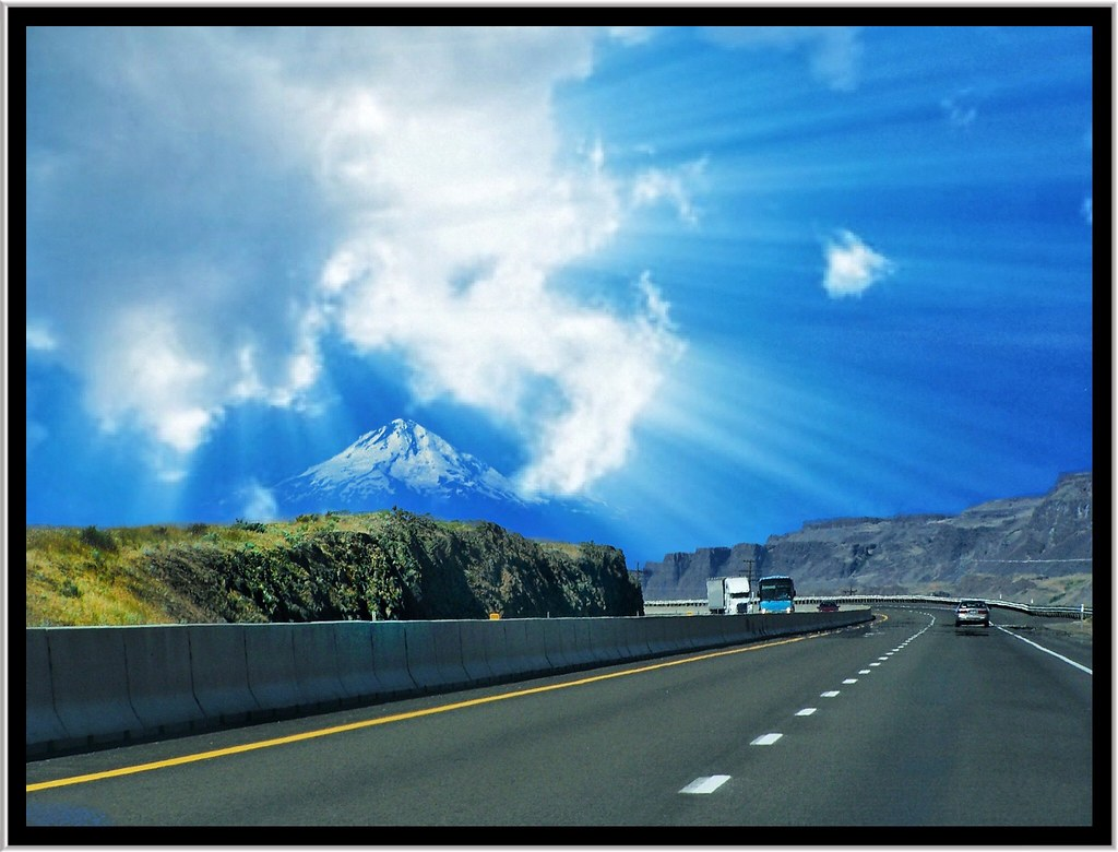 Hood Mountain   - Oregon ~ National Forest Park ~ Hwy  I-84View from the Columbia Gorge