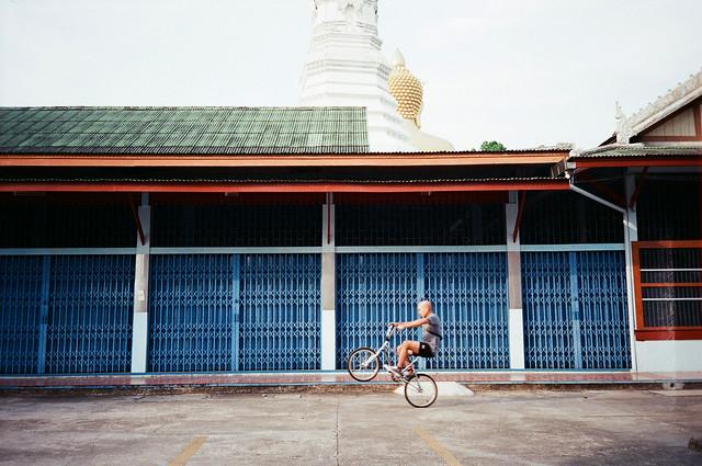 biker in PAK-NAM temple.