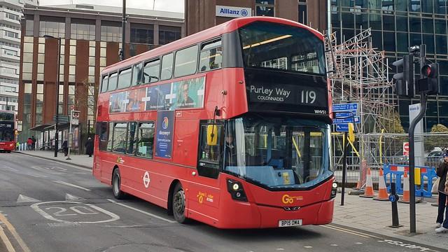 Go-Ahead London WHV51 (BP15 OMA) East Croydon 12/4/21