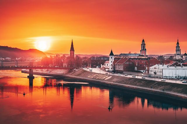 Sunset | Kaunas aerial #101/365
